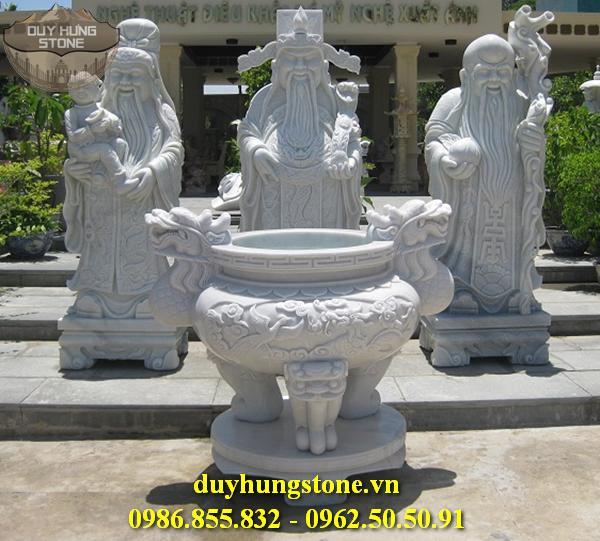 Tượng Phúc Lộc Thọ bằng đá non nước đà nẵng nguyên khối 12