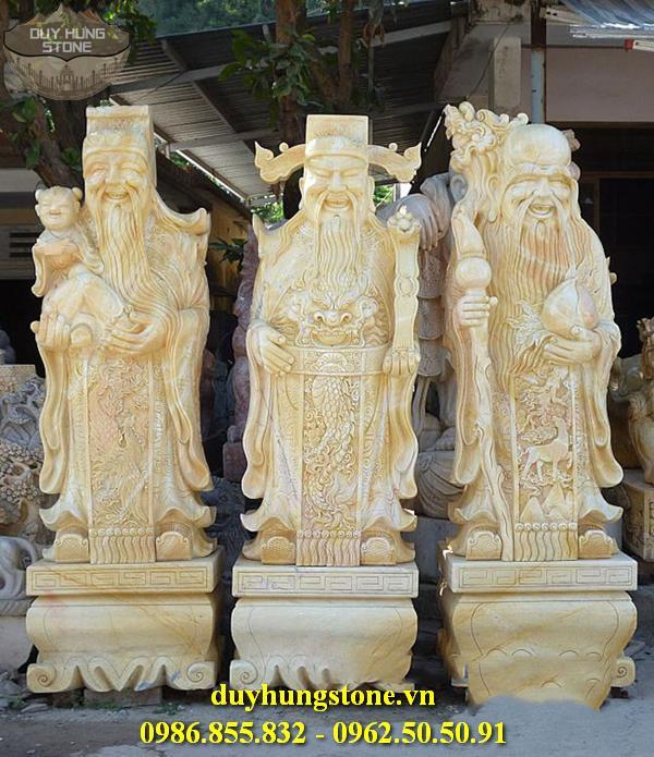 Tượng Phúc Lộc Thọ bằng đá non nước đà nẵng nguyên khối 4