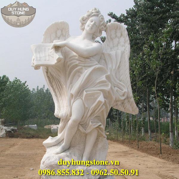 Tượng thiên thần bằng đá nguyên khối 15