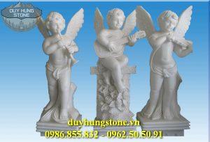Tượng thiên thần bằng đá nguyên khối 17