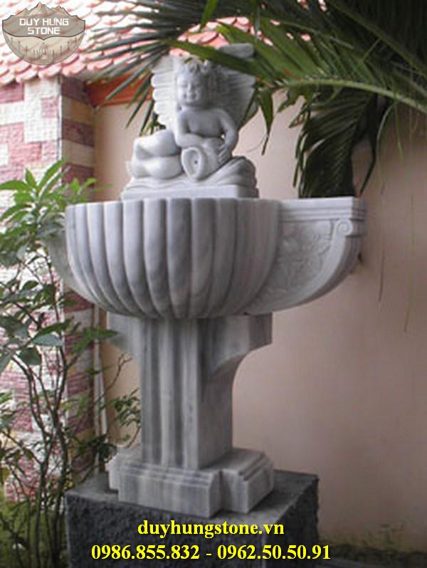 Tượng thiên thần bằng đá nguyên khối 2