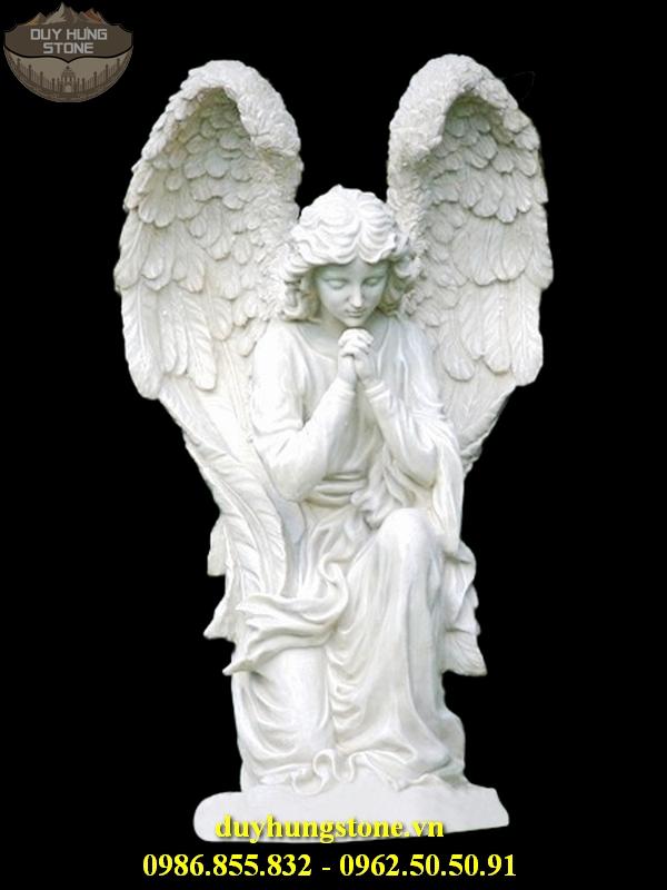 Tượng thiên thần bằng đá nguyên khối 20
