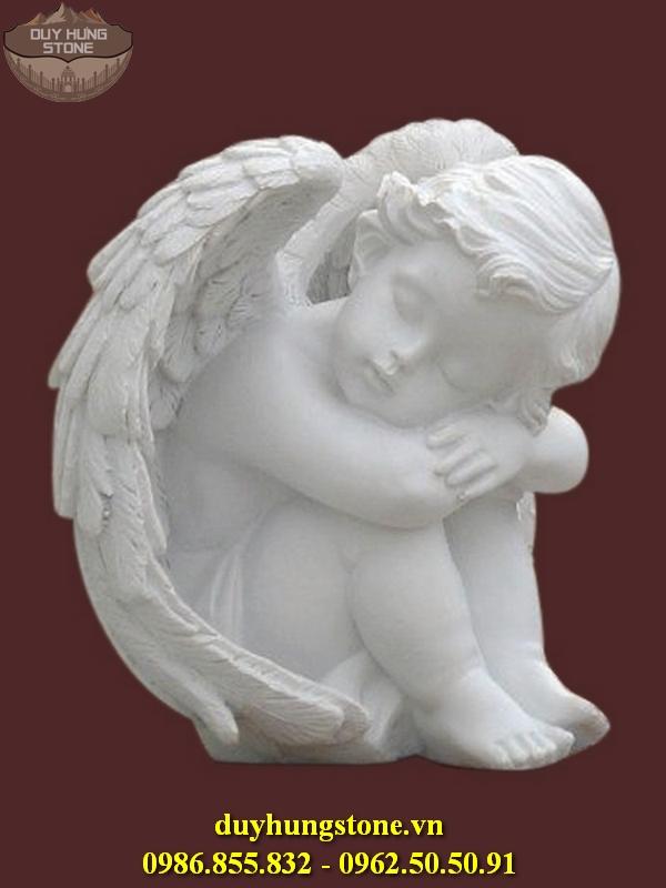 Tượng thiên thần bằng đá nguyên khối 21