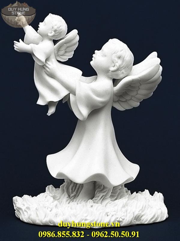 Tượng thiên thần bằng đá nguyên khối 23