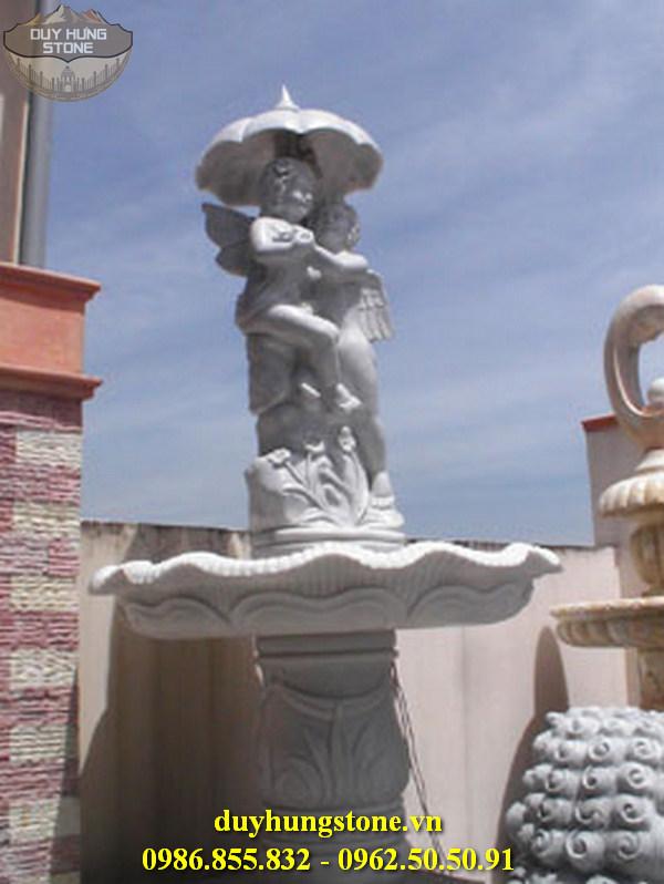 Tượng thiên thần bằng đá nguyên khối 3