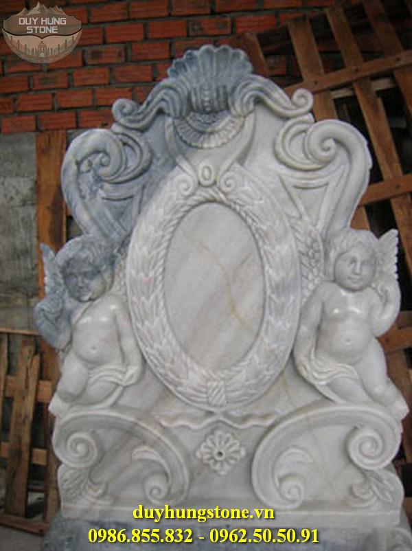 Tượng thiên thần bằng đá nguyên khối 7