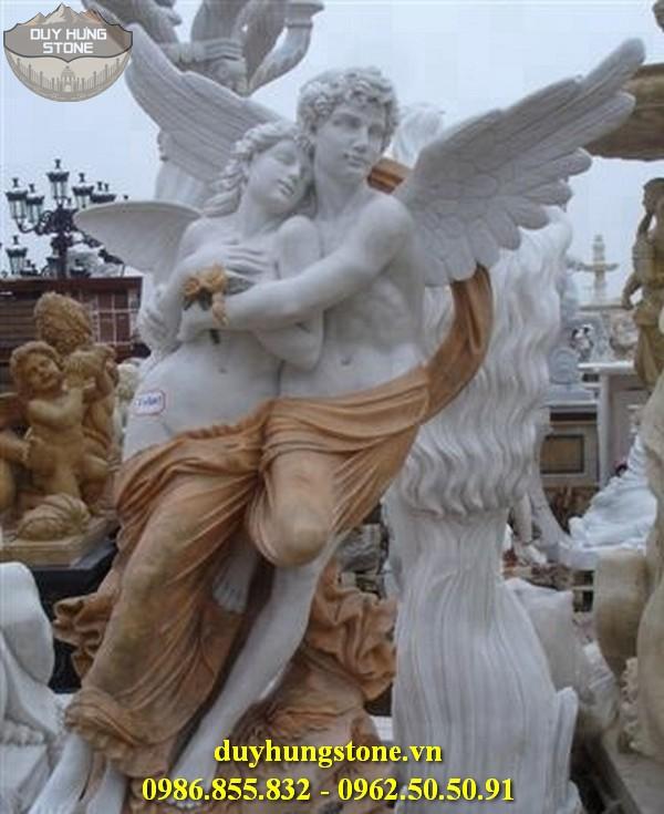 Tượng thiên thần bằng đá nguyên khối 8