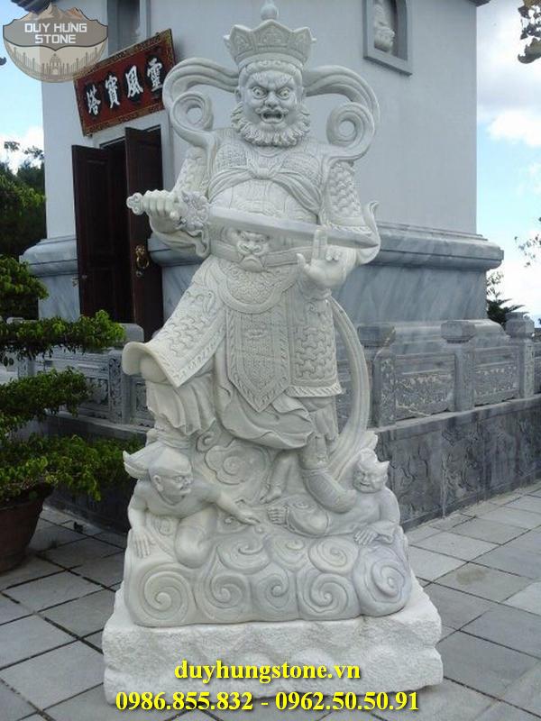 Tượng tứ đại thiên vương hộ pháp bằng đá nguyên khối 10