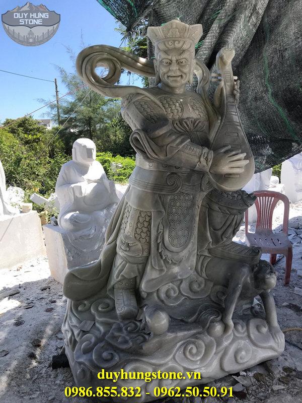 Tượng tứ đại thiên vương hộ pháp bằng đá nguyên khối 21