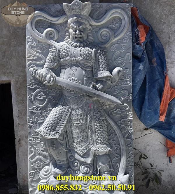 Tượng tứ đại thiên vương hộ pháp bằng đá nguyên khối 3